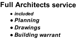 Full Architects service  included Planning  Drawings Building warrant